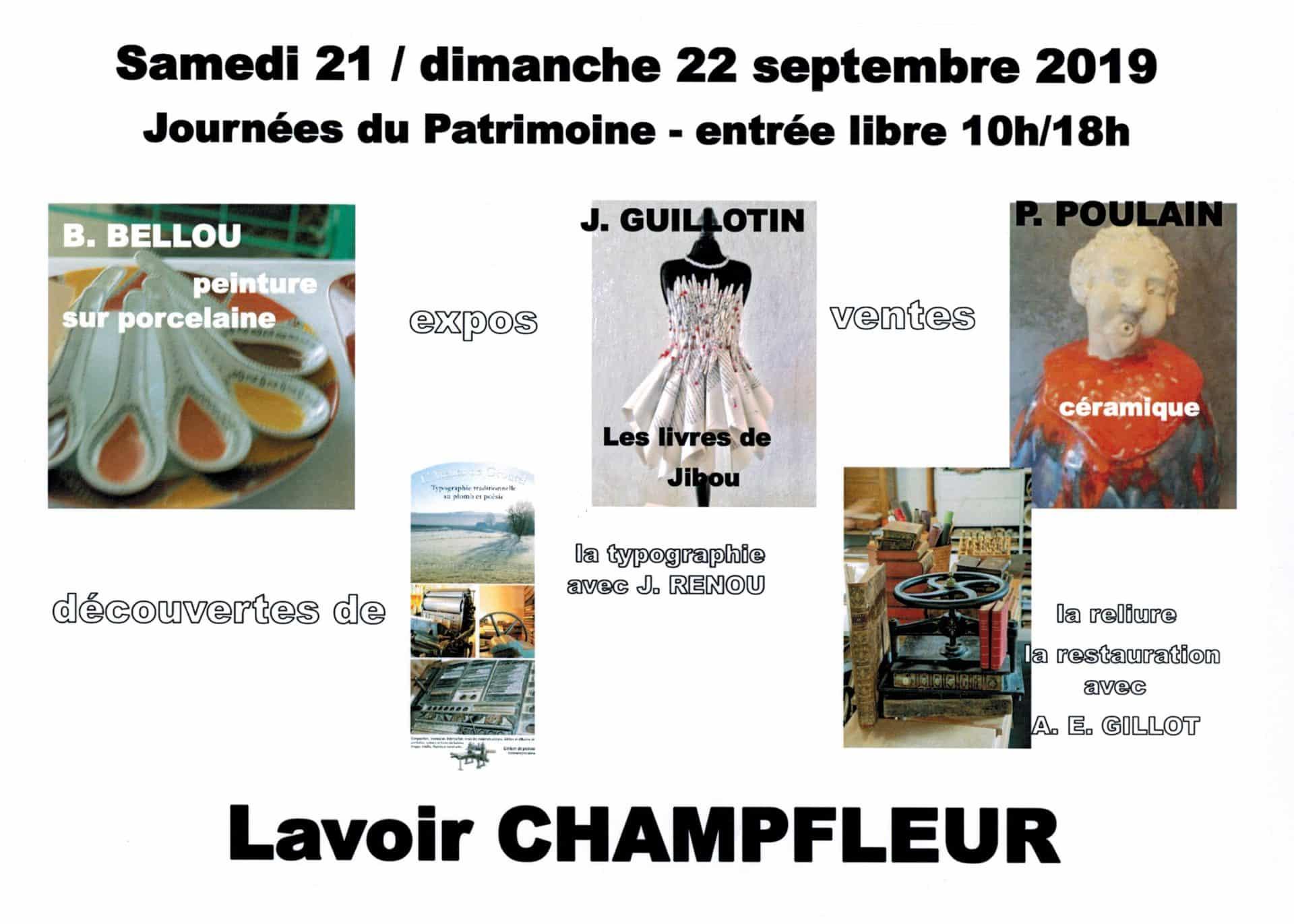 Le programme des Journées du Patrimoine à Champfleur