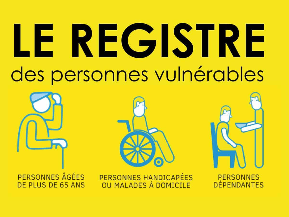 Registre communal des personnes vulnérables