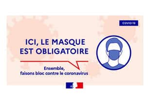 Port du masque obligatoire dans les rues de Champfleur